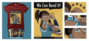 Korra the Avatar Propaganda Shirt by digitalfragrance