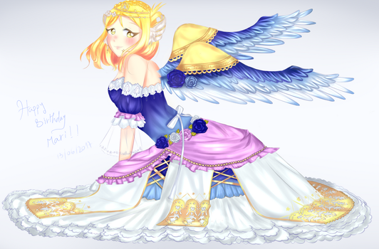 ANGEL Ohara Mari (Happy birthday) by Katane-Enomoto-chan