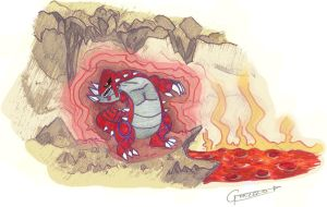 Groudon - fast drawing. by Gonzaloguay