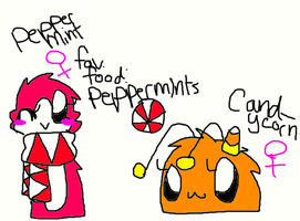 Peppermint And Candycorn by CreamyKittens