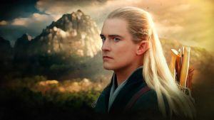 Photorealistic Legolas (Orlando Bloom) Hobbit by push-pulse