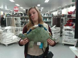 Larry the dinosaur by Supercurlyninja