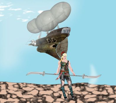The airship is gone by buletica