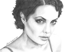 Angelina Jolie Sketch by funksoulfather