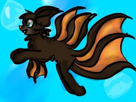 Leomaris as a cat wolf thing!! by PYR0P3
