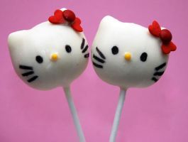 Hello Kitty Cake Pops by keriwgd