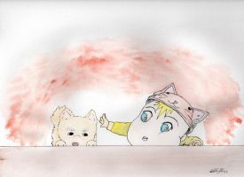 Baby N Puppy :3 by Squall1015