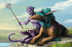 Commission: Fisk and Grod by Raironu