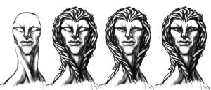 Concepts for alien character 02 by akenator