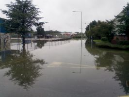 Flooding in Tewkesbury by MagicalCrystal