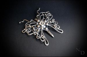 Silver pendant,wire jewelry by Atalia65