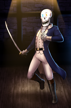 UT - Papyrus, starring as Hamilton! (Commission) by Atlas-White