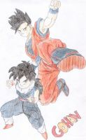 Gohan, kid and adult. by RinskeR