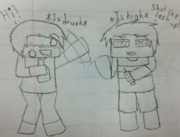 Le Drug Addicts by MonoTheGrump