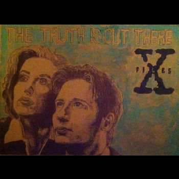 X-Files, Dana Scully and Fox Mulder by ChaseSuissa12