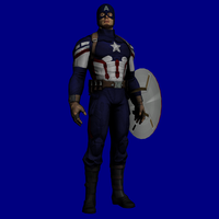 Earth X3B1 - Captain America by hank412