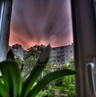 Red Clouds HDR by laksas