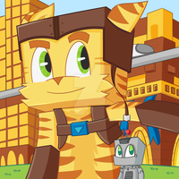 Minecraft Ratchet and Clank Mashup by NinjaPenguinVG