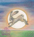 Moon Leaping Hare by Spiralpathdesigns