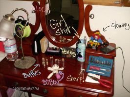 My Side Table of DOOM by XxoOjunefoxOoxX
