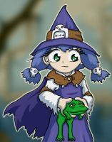 Witch with Frog by mogstomp