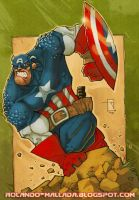 Captain America by RoloMallada