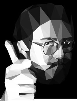 Low Poly Bill Hicks portrait by 3RDigraphics