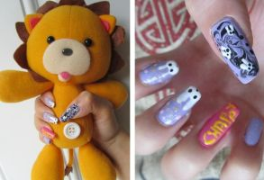 Rukia's Chappy Drawings Nail Art by LexCorp213