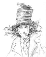 Mad Hatter Sketch by AokiBengal