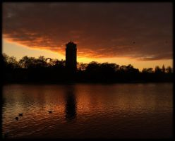 Sunset in Hyde Park 1 by Isyala