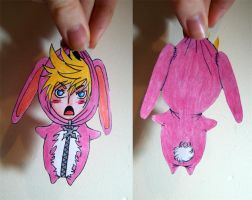 KH: Paperchild bunny!Roxas by Yes-No-Maybe-13