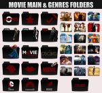 Movie Genres Folders by sonerbyzt
