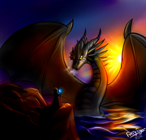 The dragon in the sea by FurryTiger