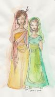 Dove and Sarai by happineff