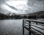 Sprague Lake B and W by lil-Mickey