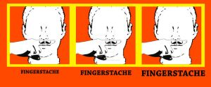 FINGERSTACHE SHIRT DESIGN by DemonShadows
