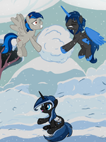 Snowball fight by Assiel