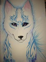 Blue tribal by MEXICANCABBAGE