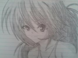 Anime Girl Pencil by crocrus