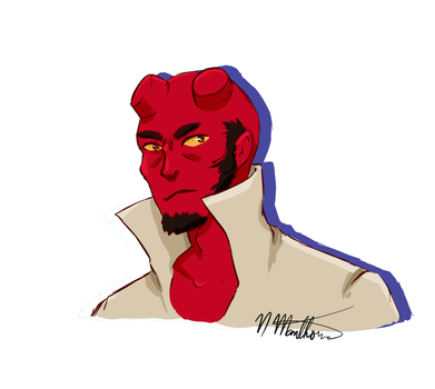 Hellboy commission ($5 Dollar Commissions!) by nikki45e