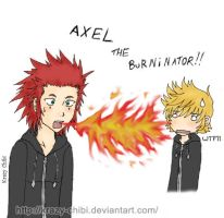 Axel - Teh Burninator by Krazy-Chibi