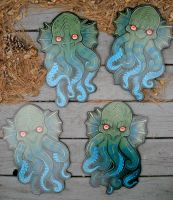 Mini Cthulhu heads by missmonster