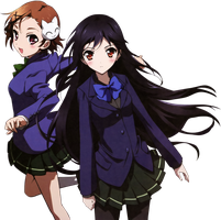 Accel World Chiyu and Kuroyukihime render by joanah009