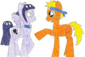 My Little Poninja: 'Hinata, look!' by the-ocean-sings