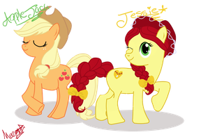 Applejack  and Jessie the cowgirl by TheSpaceCowgirl
