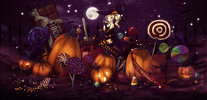 Halloween- colored by Aureta