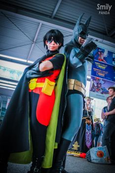 Robin and Batman - Japan Expo 2014 by PtiQuelu