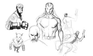 Hellboy Roughs 3 by RJN16