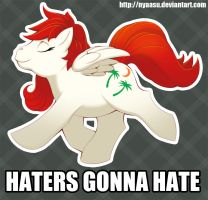 Haters gonna hate (redeux) by Nyaasu
