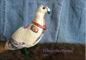 Rock Dove Plushie by WhiskerfaceRumpel